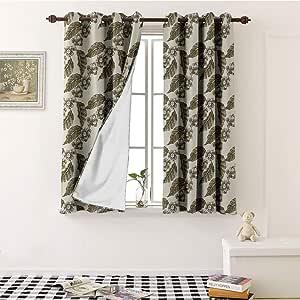 SOSO-LALEO Nature Decor DIY Grommet Curtain for Living ...