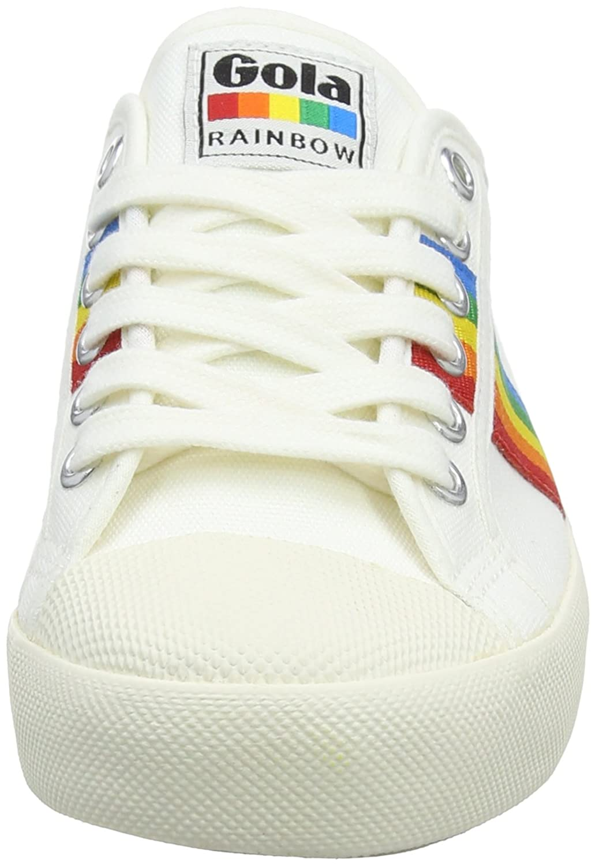 Gola Coaster Rainbow, Zapatillas para Mujer, Hueso (Off White/Multi Powder), 36 EU