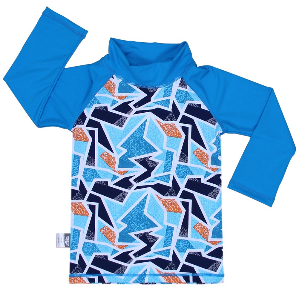 Baby Rash Guard UPF 50 Sun Protection Shirt (Shirt S: 0 - 6m, iceberg) Twinklebelle design inc 21-01S