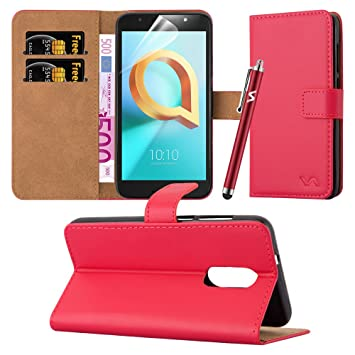 sports shoes 26659 cf9a3 Alcatel A3 Plus Case - Luxury PU Leather Wallet Cover Magnetic Closure Flip  Stand View Protective Card Holder Case Cover For Alcatel A3 Plus 3G ...
