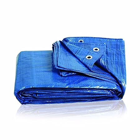 Quality Waterproof Tarpaulin Cover Ground Sheet Camping Lightweight Tarp Blue