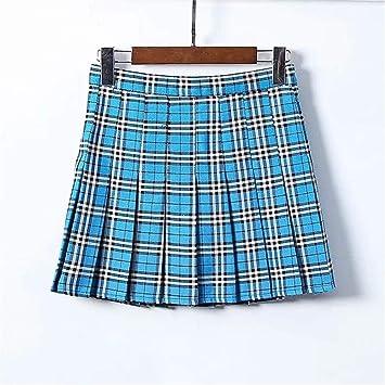 Faldón plisado, falda de faldón pequeña, falda elástica, falda ...