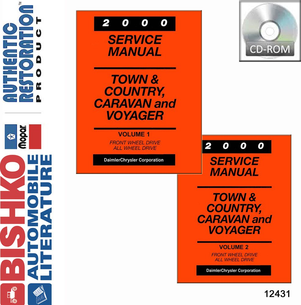 Amazon.com: bishko automotive literature 2000 Chrysler Town & Country  Caravan Voyager Shop Service Repair Manual CD OEM: Automotive