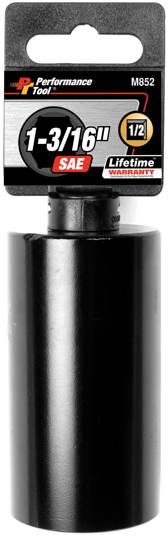 Performance Tool M852 1/2'' Dr. 6-Point Impact Socket, 1-3/16''