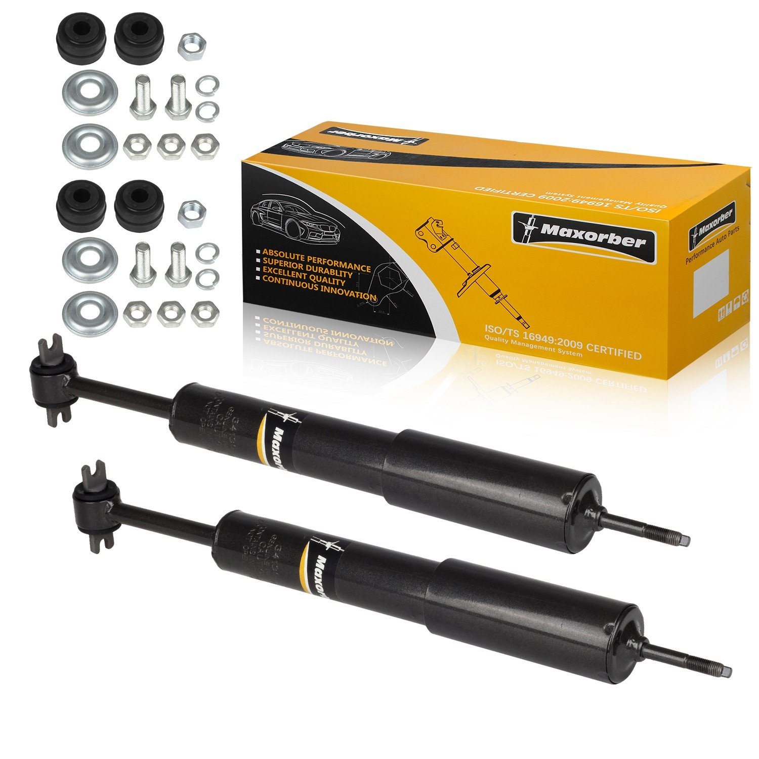 Maxorber Front Pair Shocks Absorber Struts Compatible with 1995 1996 1997 1998 1999 2000 2001 Ford Explorer 98 99 00 01 02 03 2004 2005 2006 Ford Ranger 97 98 99 00 01 Mercury Mountaineer 12140187