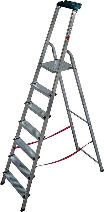 Escalux V29761 - Más Marchalu 7M escalera con 7 pasos Portaherramientas Aluminio: Amazon.es: Bricolaje y herramientas