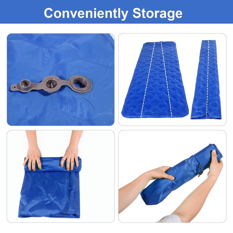 tienda de campa/ña Aandyou Colch/ón hinchable para dormir saco de dormir camping para acampada dormir mochila ligero ultraligero para senderismo hamaca