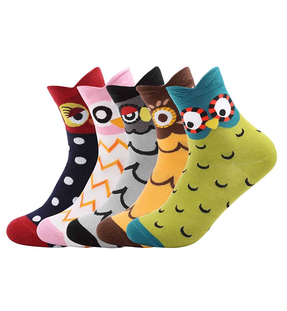 DJT FASHION Women's Fun Socks Cute Animals Funky Novelty Cotton Gift 4-6 Pairs D186A24ZH300^^J