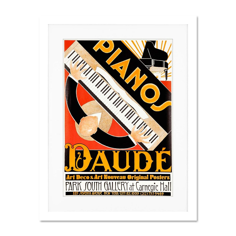 Vintage Advert Art Deco Style Piano Daude Music Decoración ...