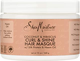 product image for SheaMoisture Hair Masque for Dry Curls Coconut & Hibiscus Hair Mask with Shea Butter 12 oz