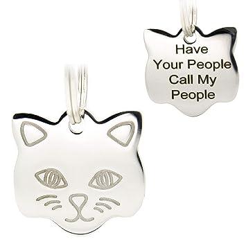 Amazon.com: Etiquetas de identificación de gato de acero ...
