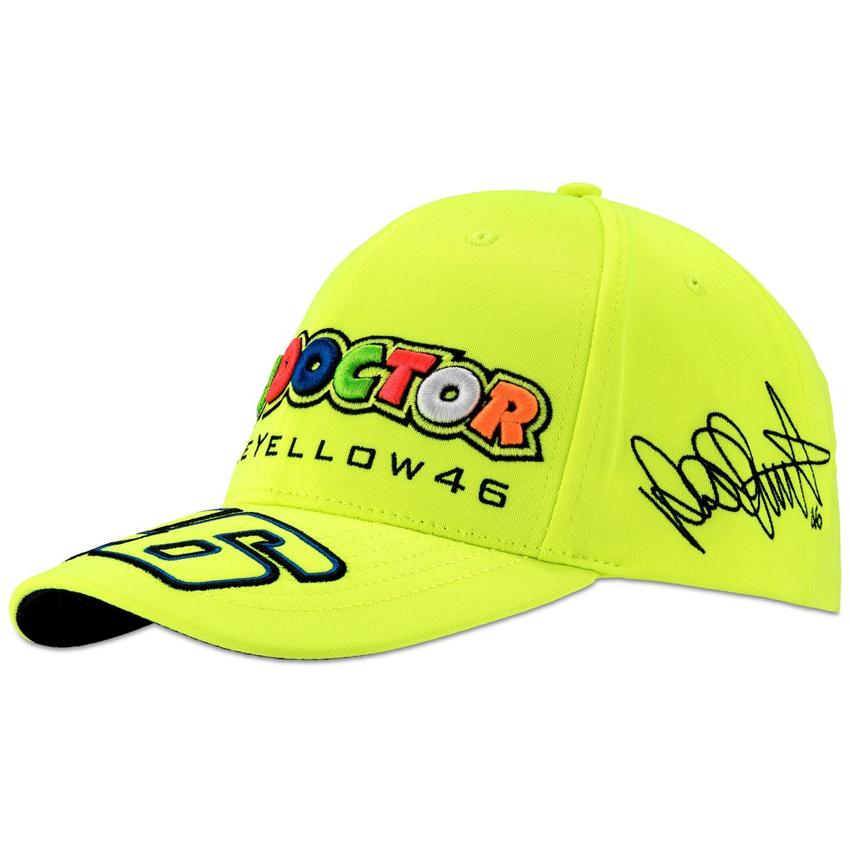 Valentino Rossi VR46 Moto GP The Doctor Yellow Baseball Cap Official 2018