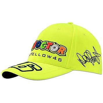 Valentino Rossi VR46 Moto GP The Doctor Amarillo Baseball Gorra Oficial 2018 16d26183c9a