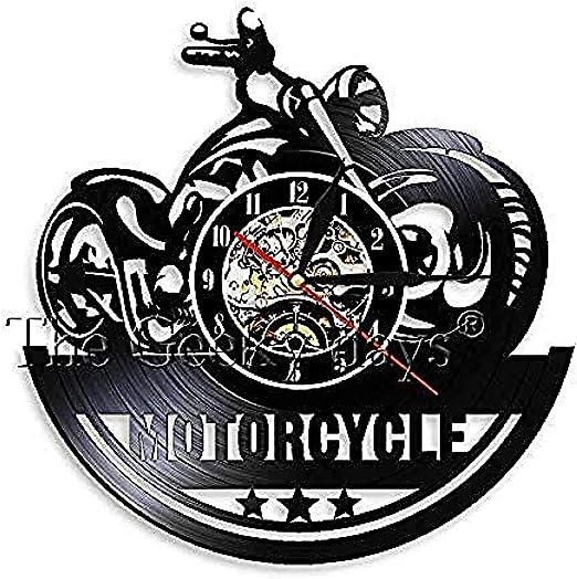clockfc Reloj de Pared Moto Vinilo Ventilador Vinilo Antiguo Reloj ...