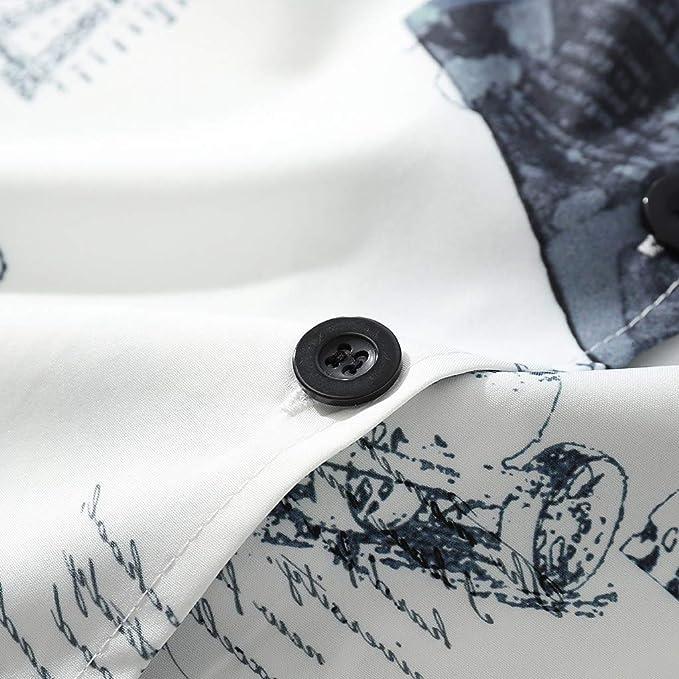 COOLIY_Hombre Camiseta Casual Suelta para Hombre Verano Kimono ...