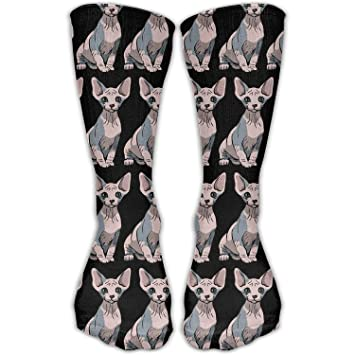 Yuerb Calcetines Altos Casual Sphynx Cat Sitting Fashion Crew Ankle Dress High Knee Sock Sports Running Girls Stockings: Amazon.es: Deportes y aire libre
