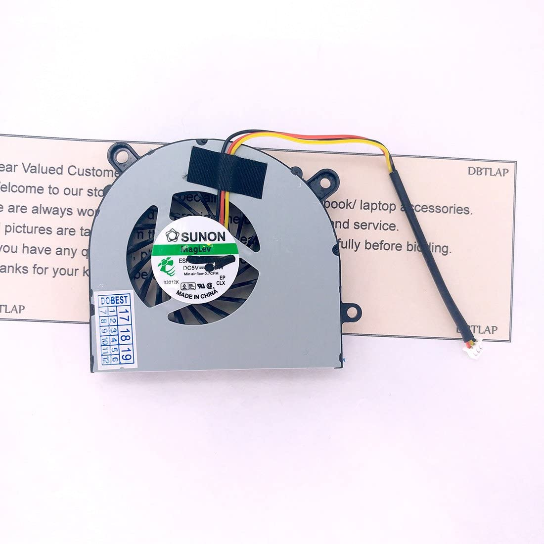 DBTLAP Laptop CPU Cooler Fan Compatible for MSI CX61 CR650 FX600 FX610 FX603 FX620 FX620DX GE620 GE620DX Compatible forCECON DFS451205M10T Fan
