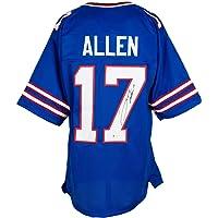 $399 » Josh Allen Signed Custom Blue Pro Style Football Jersey BAS ITP