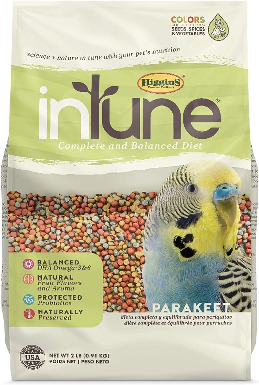 Higgins Intune Parakeet Bird Food 2Lb