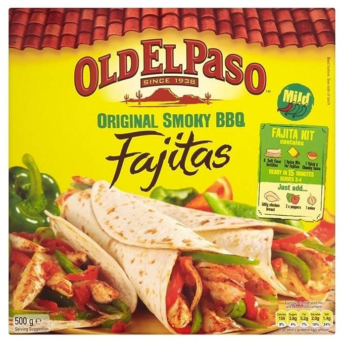 Old El Paso Kit De Barbacoa Ahumada Fajitas Originales (500g) (Paquete de 2