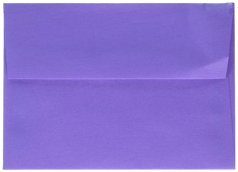 JAM Paper® #10 Business Envelope - 104.9mm x 241.3mm (4 1/8 x 9 1/2) - Brite Hue Violet - 50 envelopes per pack 15864i