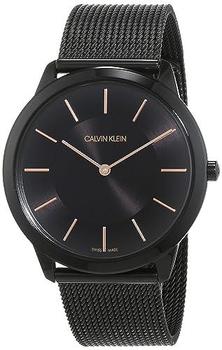 Calvin Klein Reloj Analogico para Hombre de Cuarzo con Correa en Acero Inoxidable K3M21421: Amazon.es: Relojes
