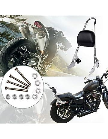 Sissy Barre de dossier pour Harley Sportster XL1200 72 48 Nightster Dyna Softail Noir