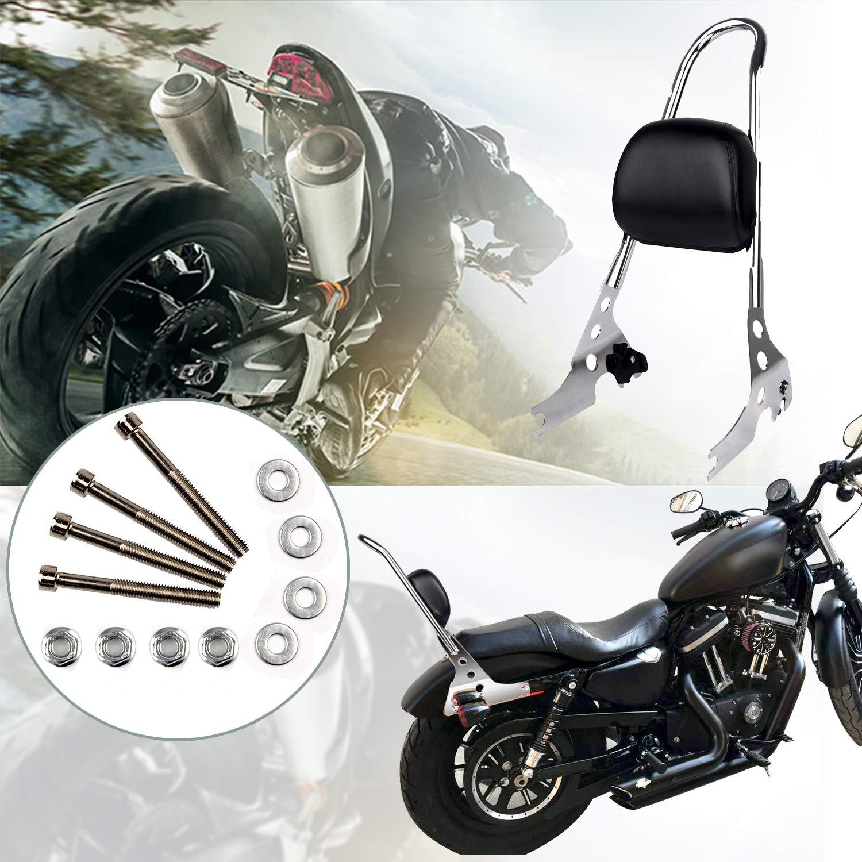 Triclicks Motorcycle Sissy Bar Passenger Backrest for Harley Davidson Sportster XL883 XL1200 X48 2004-2016