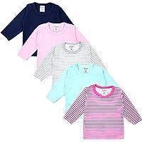 TupTam Camiseta de Bebé para Niña Manga Larga Pack de 5