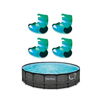 Amazon.com: Summer Waves sobre el suelo, piscina, silla de ...