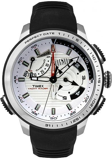 Timex Yacht Racer - Reloj (Reloj de Pulsera, Masculino, Acero Inoxidable, Blanco