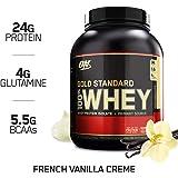 Optimum Nutrition Gold Standard 100% Whey Proteína en Polvo, Crema de Vainilla Francesa - 2270 g