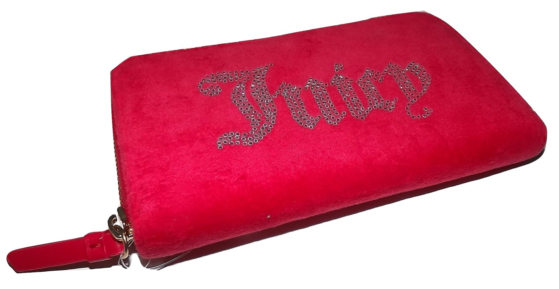 Juicy Couture Women's Zip Around Credit Card Clutch Wallet Bright Red