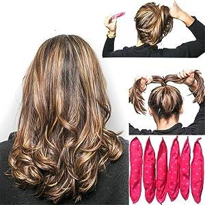 TEEROVA 20pcs Sponge Flexible Foam Hair Curlers Soft Sleep Pillow Hair Rollers Set Magic Hair Care DIY Styling Tools