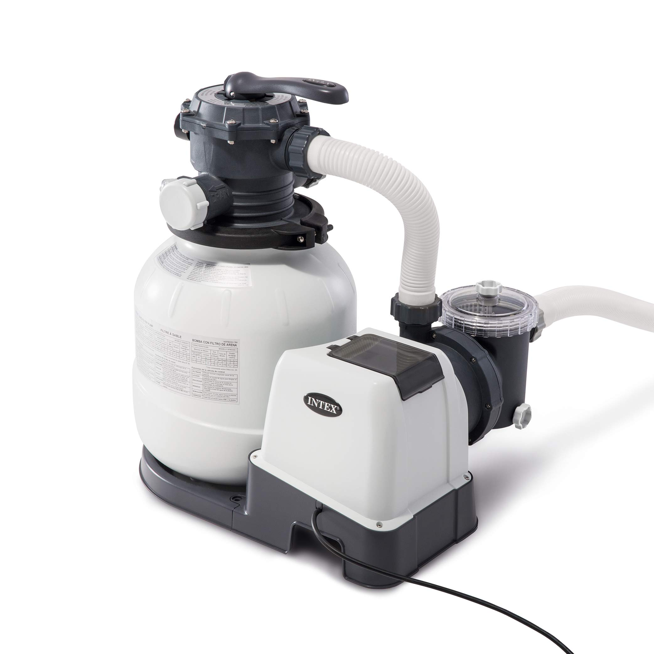 Intex Krystal Clear Sand Filter Pump for Above Ground Pools, 12-inch, 110-120V with GFCI by Intex