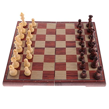 Portable Magnetic International Chess Pieces Checkers Set
