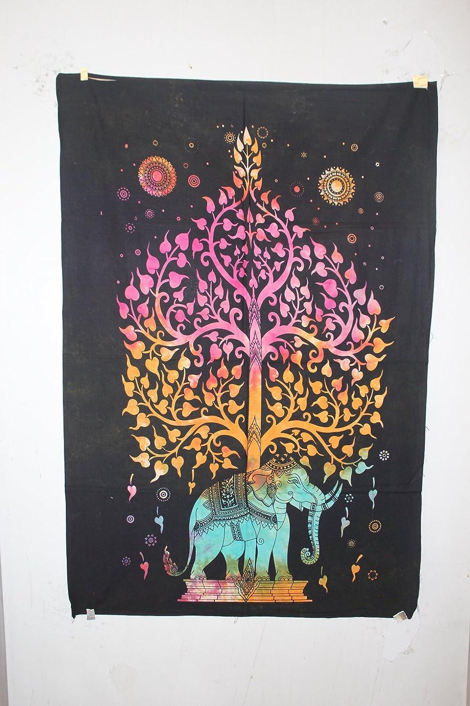 du salon Indus Lifespace Gifts Plaque murale en bois avec croix de 29 cm de long et motif floral sculpt/é /à la main Motif religieux autel religieux D/écoration de la maison