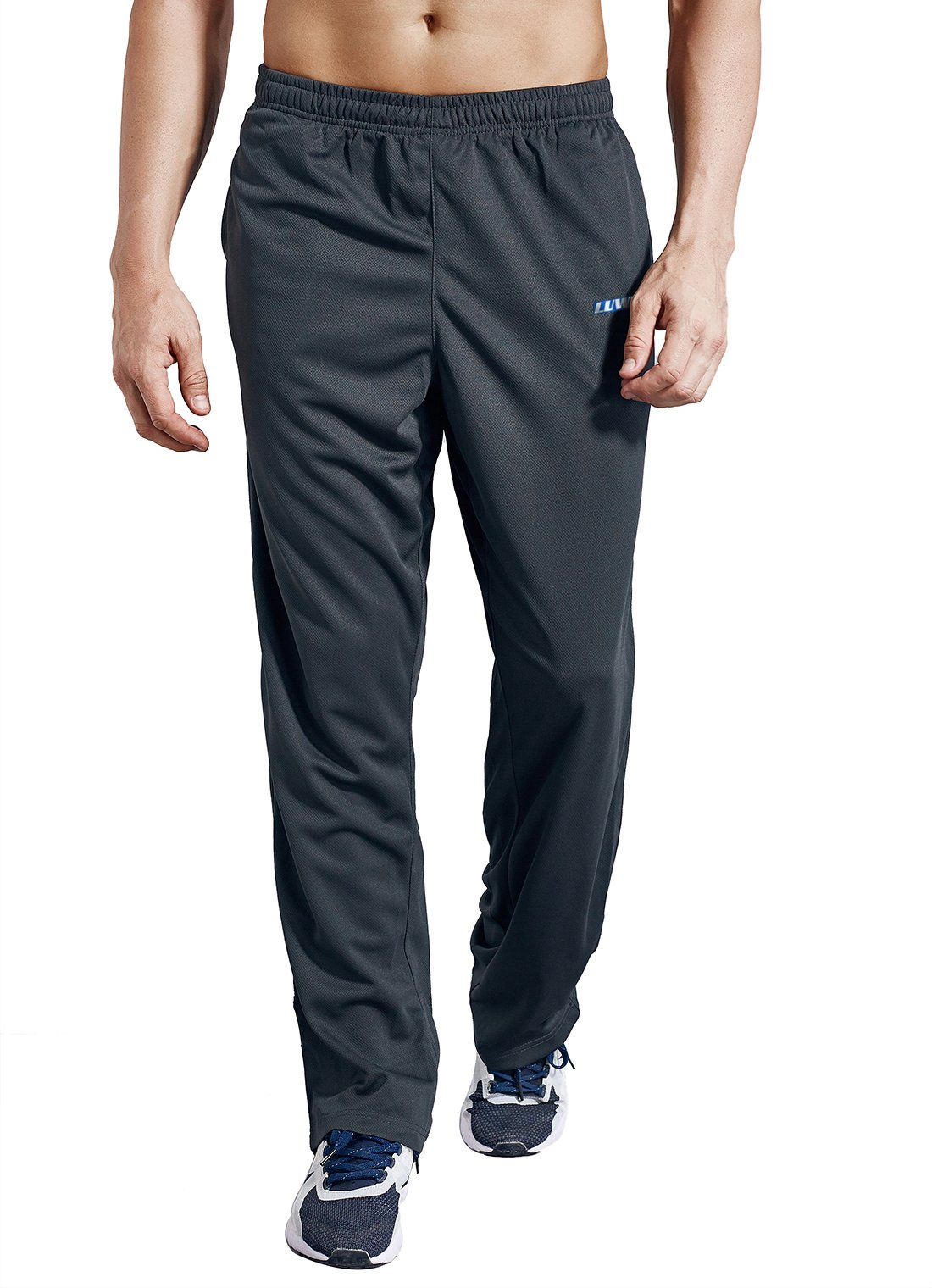 LUWELL PRO Men's Sweatpants with Pockets Open Bottom Athletic Pants for Jogging, Workout, Gym, Running, Training(0317Gray,S)