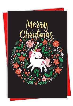 Amazon.com: Holiday Unicorn – 12 tarjetas de felicitación ...