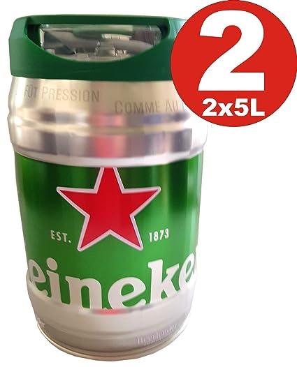 2 x 5 l Barril con grifo (de Heineken draught Keg ...