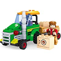 Fun Blox Farm Tractor with Farmer, Multi Color (103 Pieces)