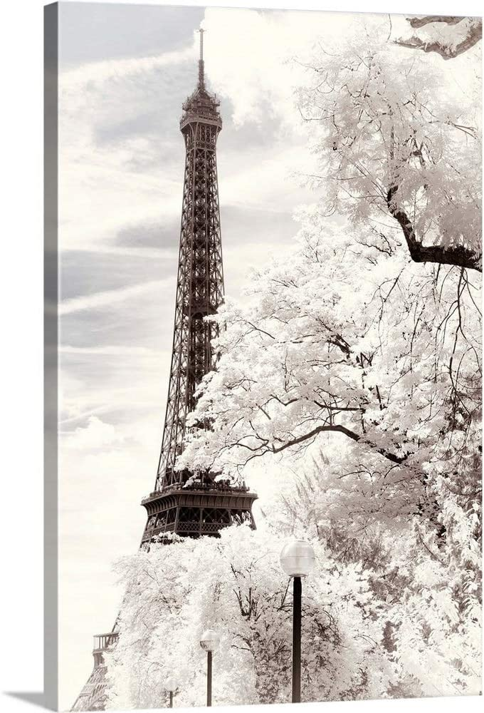 Exclusive Eiffel Tower Original Paris France French Roses 5x7 Inch Fabric Block