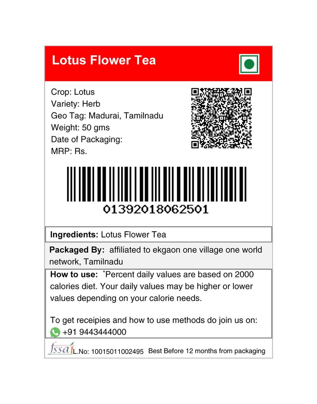 Ekgaon Lotus Flower Tea 50 Gms Amazon Grocery Gourmet Foods