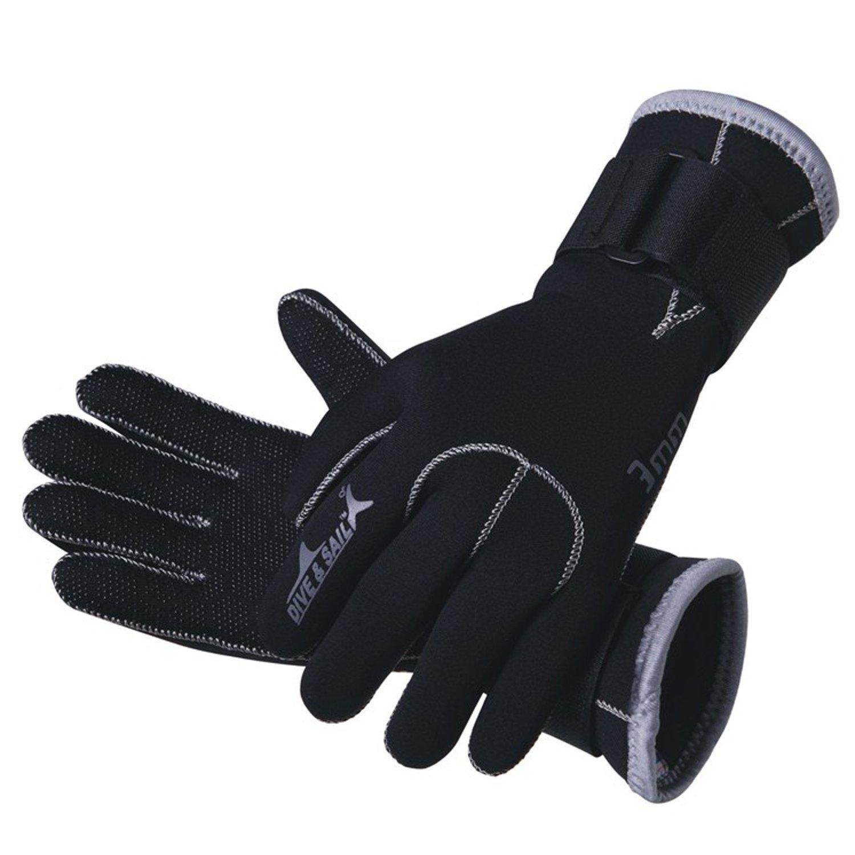 【★大感謝セール】 Dive & Large Sailウェットスーツプレミアムネオプレン手袋 B01EUD4MOW & Dive Large|ブラック ブラック Large, Depot:d13228d0 --- egreensolutions.ca