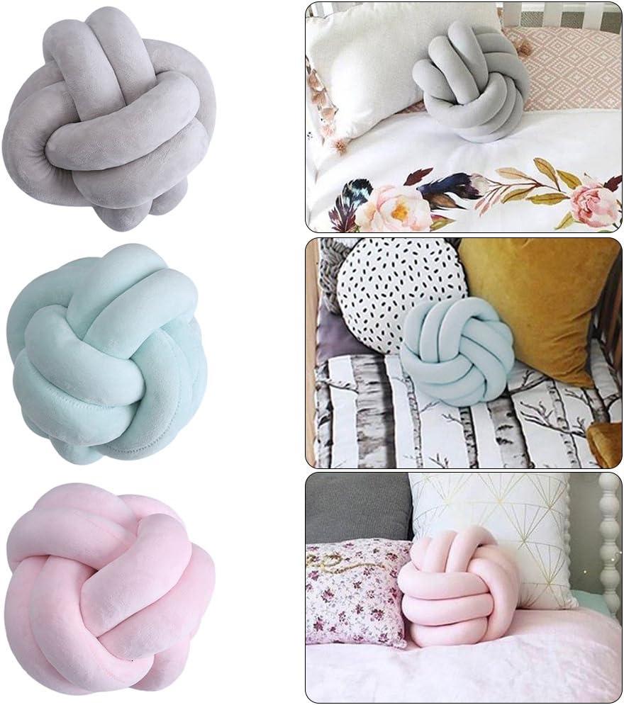 Minuya Knot Kopfkissen Kissen Nordische Einfachheit Kreativit/ät Geknotetes Kissen Mode Sch/öne Cartoon Knoten Ball Kissen Dekor Bett Zimmer