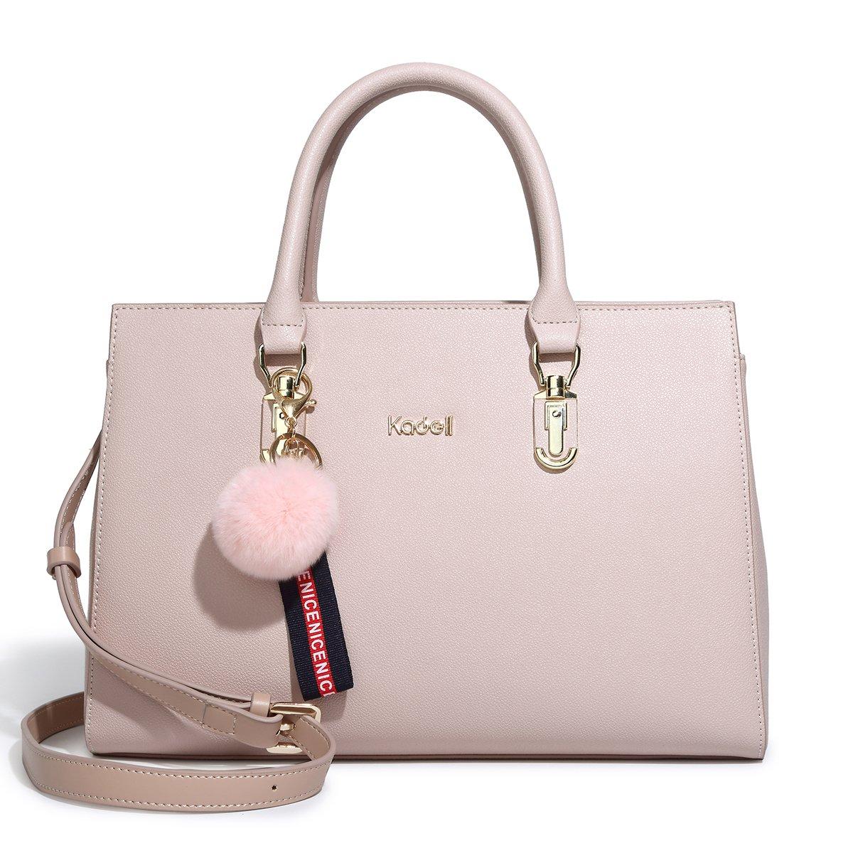 Kadell New Shoulder Handbags for Women PU Leather Crossbody Tote Purses Luxury Designer Lady Bags Pink