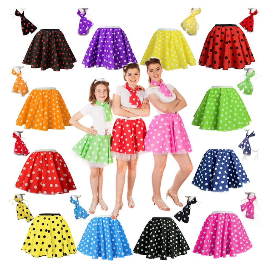 Children's Polka Dot Skirt Rock n Roll 50's/ 60's Style