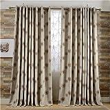 Brown Curtains Drapes Room Darkening - KoTing 1 Panel Dandelion Flower Curtains Grommet Top Drapes for Bedroom 84 inch Long 42 84