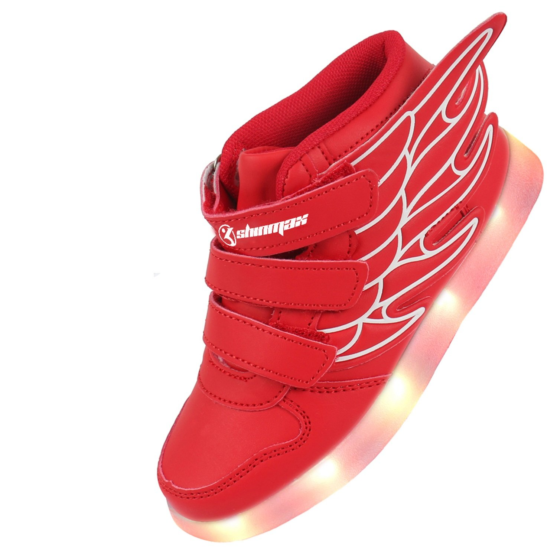 LED Chaussures, Angin-Tech Ange Série Led Chaussure 7 Couleurs USB Rechargeable Clignotant Chaussures Basket Lumineuse de Garçon et Fille pour Noël Halloween avec CE Certificat