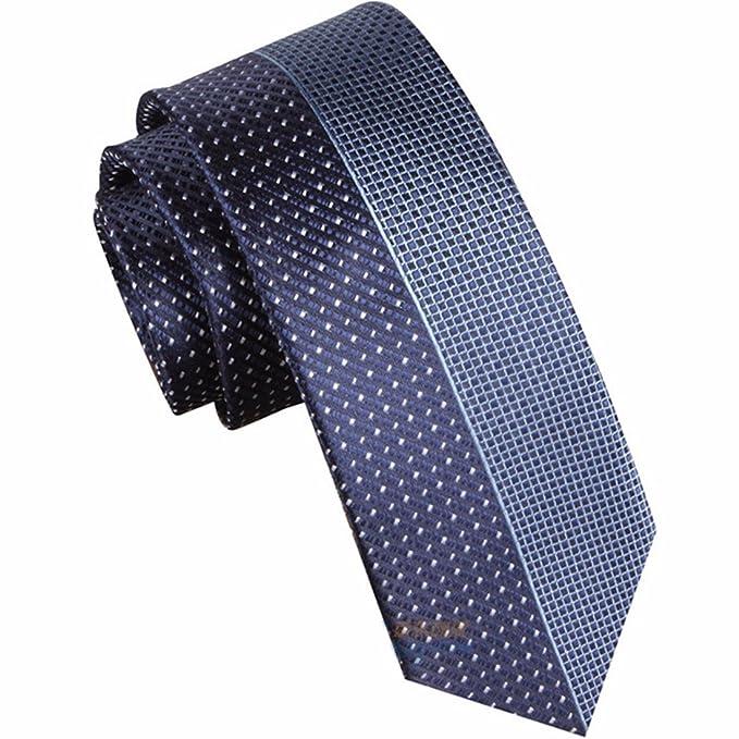 HXCMAN 7cm azul Retazos Lunares corbata Diseño clásico corbata ...